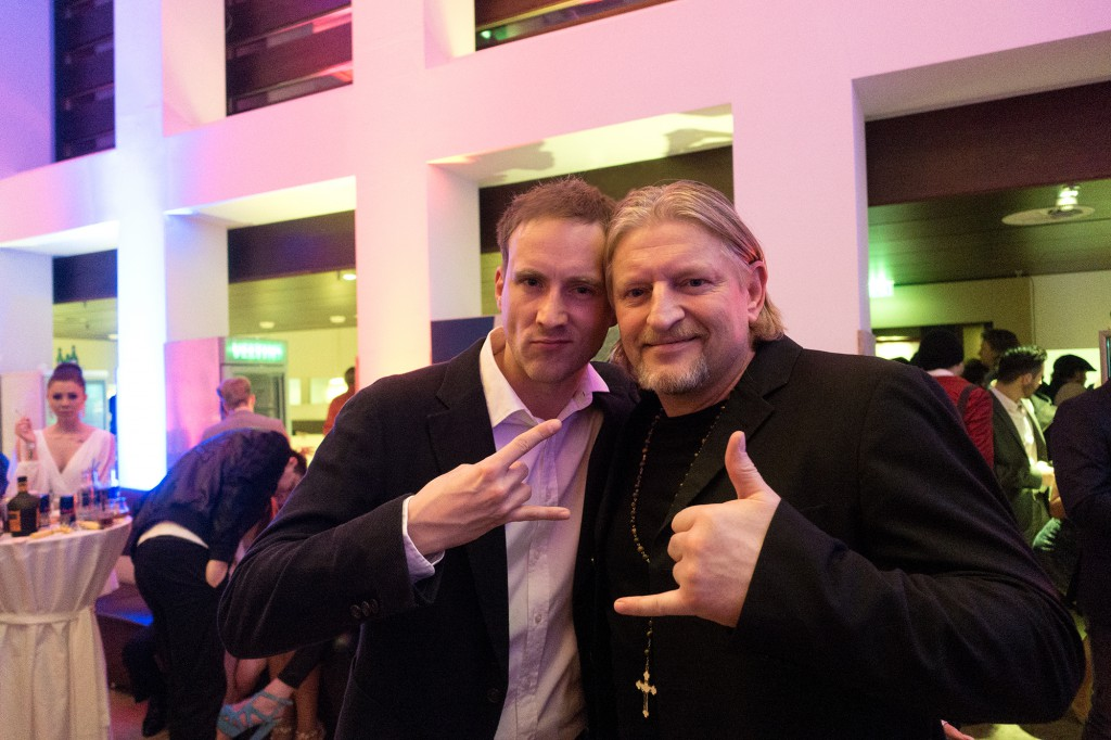 Sebastian traf auf Schauspielkollegen Frank Kessler