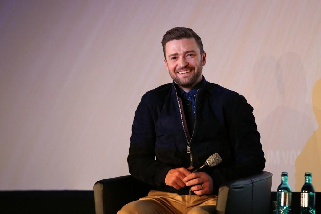 Justin Timberlake bei der Trolls - PK (Credit:TM and © 2011 Twentieth Century Fox Film Corporation, All rights reserved / TM und © 2011 Twentieth Century Fox. Alle Rechte vorbehalten)